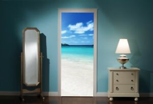 Door-Mural-Exotic-Beach-Sea-View-Wall-Stickers-Decal-Wallpaper-190