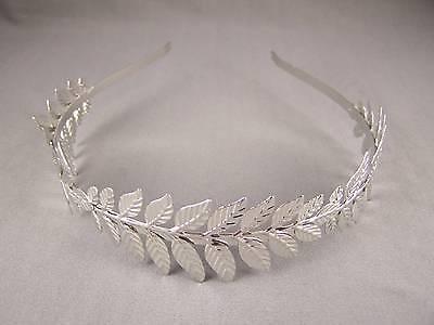 Silver Laurel Leaf crown Leaves headband hair band greek toga roman costume B