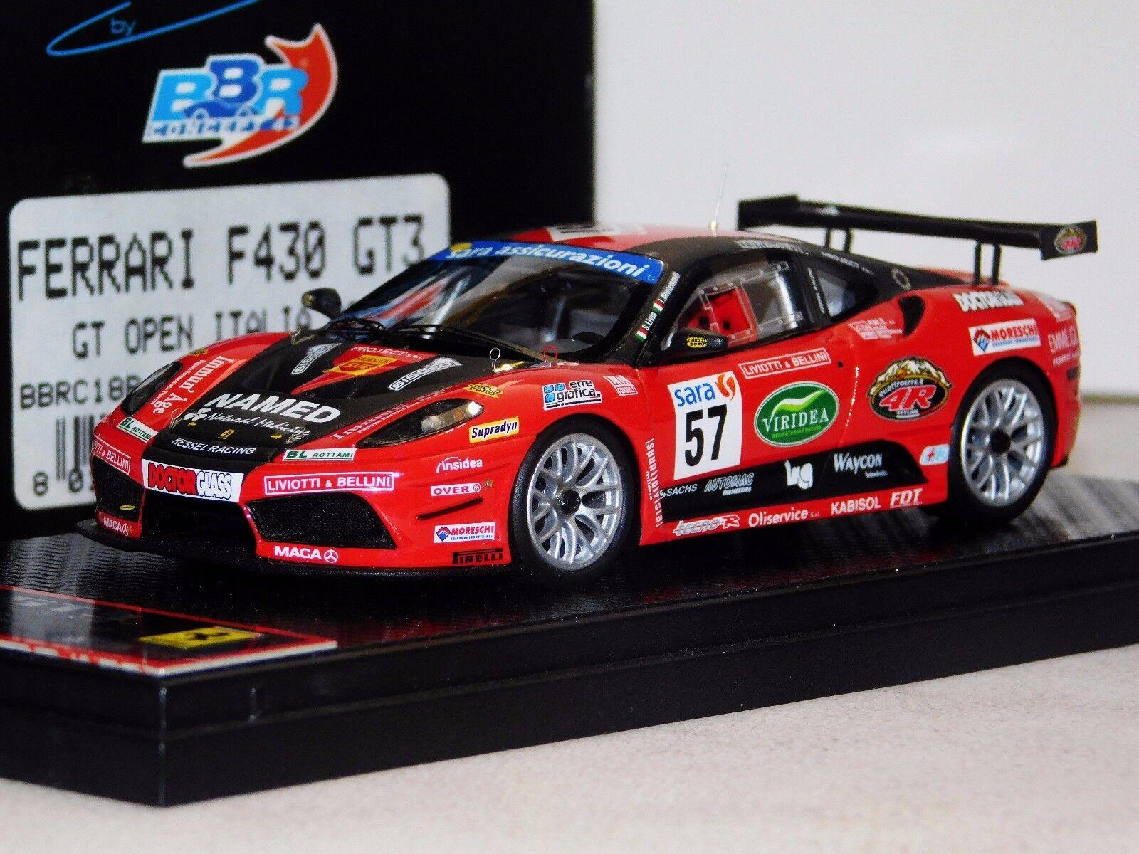 FERRARI F430 GT3  57 OPEN GT ITALIA 2009 BBR BBRC18B LIM. 210 PCS 1 43