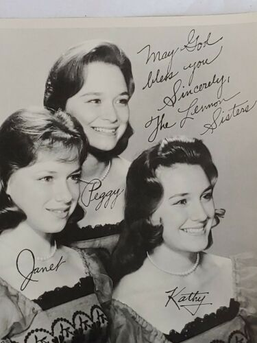 """THE LENNON SISTERS Original Press Fan Club Glossy 8/"""" X 9.5/"""" Official Vintage"""