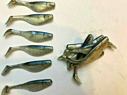"""2/"""" Paddle Tail Shad 75 pack Paddle Tail Swim Bait USA GHOST SHAD"""