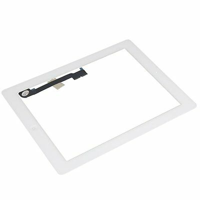 White Glass Touch Screen Digitizer W/ Home Button Assembly for iPad 3 4 4th Gen