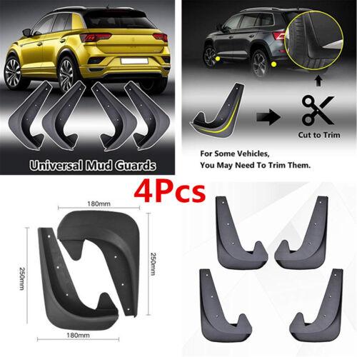 4 Piece Universal Car SUV Front Rear Mud Flaps Guards Splash Fender Accessories