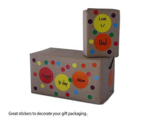 Color Sticker Labels 3//4 Inch 19mm Circle Dots Writable Surface Rolls 1050 Pack