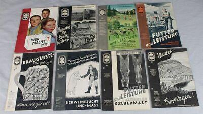 8 Reklame Prospekte Thema Landwirtschaft - Aid Hefte Aus Den 1950er J.(1) /s186 Ohne RüCkgabe