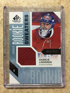 16-17-SP-Game-Used-SPGU-Sweaters-CHARLIE-LINDGREN-RC-Rookie-Jersey-499