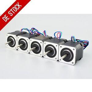 DE-Ship-5pcs-Nema-17-Stepper-Motor-59Ncm-84oz-in-Bipolar-4-lead-3D-Printer-CNC