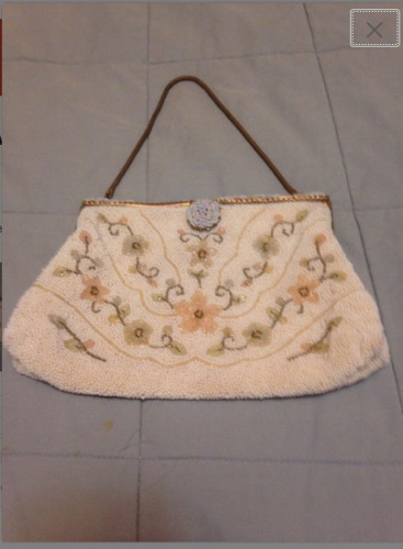 Vintage 1930's Pastel Beaded Evening Purse by OBER