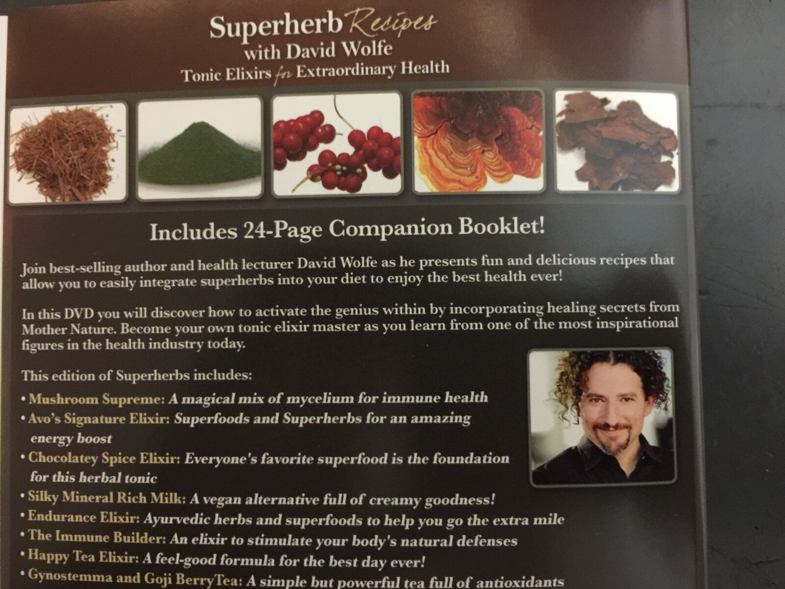 Superherb Recipes With David Wolfe Tonic Elixirs For Extraordinary Health Dvd For Sale Online Ebay