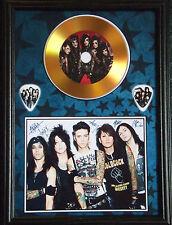 Black Veil Brides Gold Vinyl Look CD, Autograph & Plectrum Display