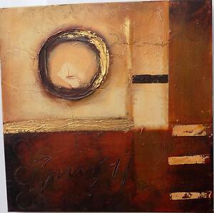 Quadro-astratto-ad-olio-materico-cm-50x50-rosso-brunito-industrial-moderno-n-2