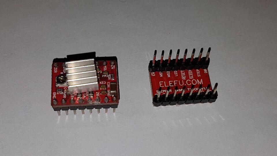 3D Printer, A4988 Stepper motor driver med Køleplade