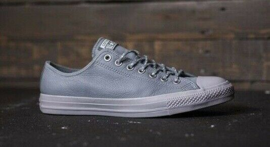 Converse Chuck Taylor All Star Low Top Leather Thermal Lined shoes 157586C Grey