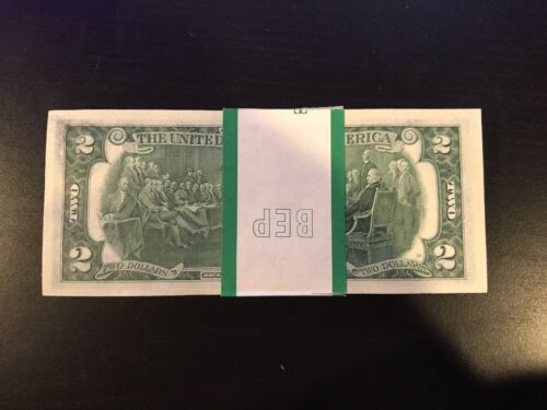 Bill Uncirculated Consecutive Sequential BEP Wrap 1976 Two Dollar 1 Note $2