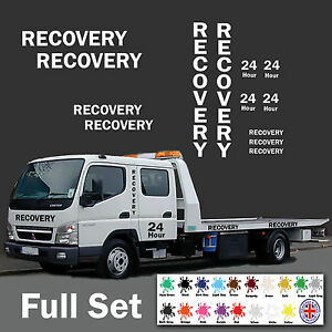 Recovery-Stickers-Full-Set-Vinyl-Decal-Transporter-Truck-HGV-Vehicle
