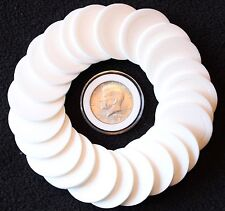 25 AIRTITE COIN CAPSULE HOLDERS & WHITE RINGS FOR HALF DOLLAR, 1oz MAPLE LEAF 30