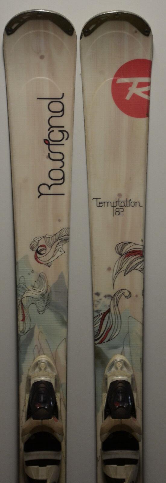 Esquís parabólico usado Mujer ROSSIGNOL Temptation 82 - 168cm