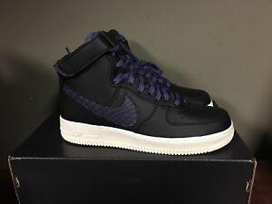 finest selection 6c177 23fed Image is loading Nike-Air-Force-1-High-039-07-Black-