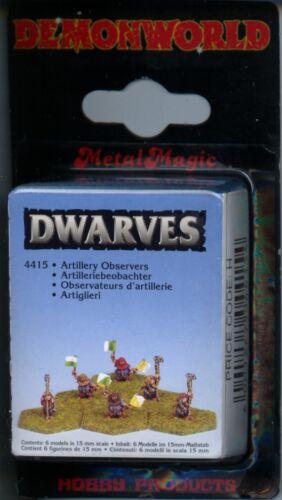 Demonworld Dwarven Dwarf Artillery Observers MINT 15mm Lead minatures 6