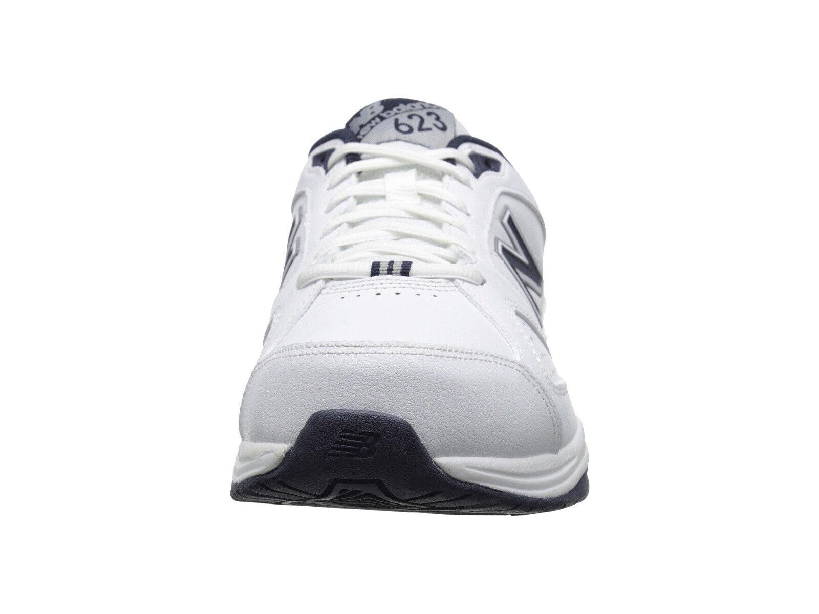 Men New Balance MX623WN3 Walking scarpe scarpe scarpe Medium D bianca Navy Leather 100%Authentic 20f0be