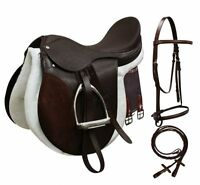 All-purpose English Saddle Starter Complete Set Many Sizes 2 Colors