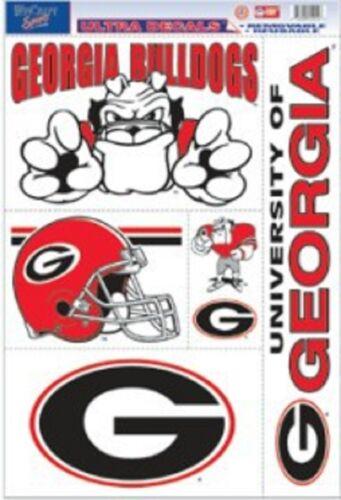 NEW Car Auto Sticker Emblem Cling Georgia Bulldogs 11x17 Ultra Decal Sheet