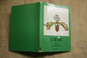 Sammlerbuch-alte-Email-Objekte-Schmuck-Dosen-Teller-geschmolzenes-Glas