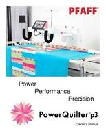 Pfaff Power Quilter P3 Instructions User Guide Manual Color Copy