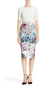 Ted-Baker-London-Illuminated-Bloom-Sheath-Dress-sz-5-US-14