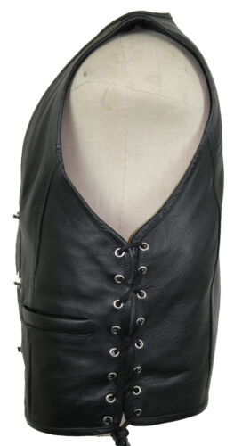 Bikerweste leather vest motorcycle biker chopper Club vest rocker vest custom cowl