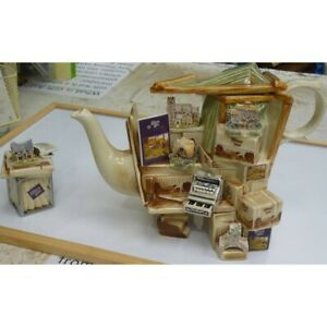 Vintage-Lilliput-Lane-1996-Collectors-Club-Teapot-amp-Sugar-Pot-Paul-Cardew-Mint