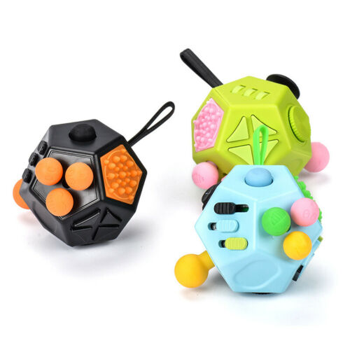 New Style 12 Sides Anti Stress Relieves Anxiety Magic Cube Toys Fidget Cube