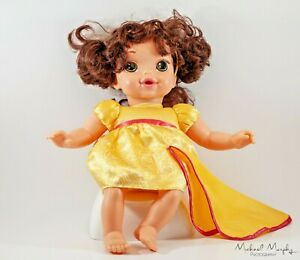 Disney-Princess-Beauty-and-the-Beast-Belle-Baby-Toddler-Doll-Yellow-Dress