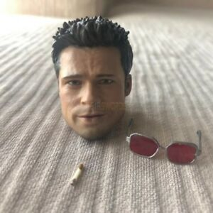 Free-Ship-1-6-Scale-Fight-Club-Brad-Pitt-Head-Sculpt-Furry-Sunglasses-Cigarette