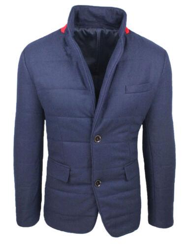 Veste Hivernal Diamond En Manteau Bleu Fit Casual Homme Élégant Slim Laine rCZrwtqa