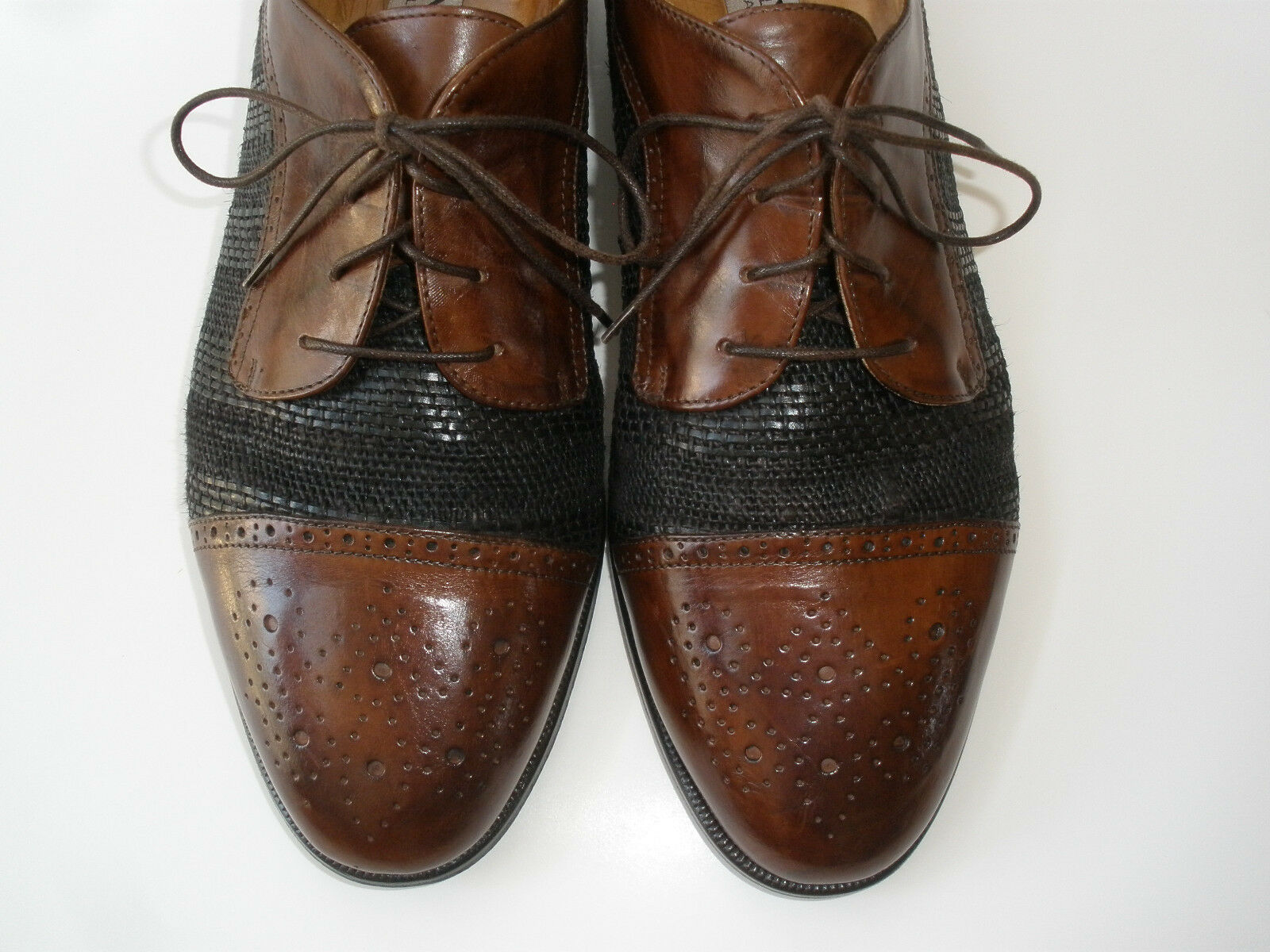 452b1d34955 ... Cole Haan Mens Brown Leather Penny Penny Penny Loafer Slip Apron Toe  Casual Dress Shoes 11M ...