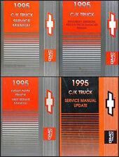 1995 GMC Sierra Shop Manual Set of 4 Pickup Truck C1500 C2500 C3500 K1500-K3500