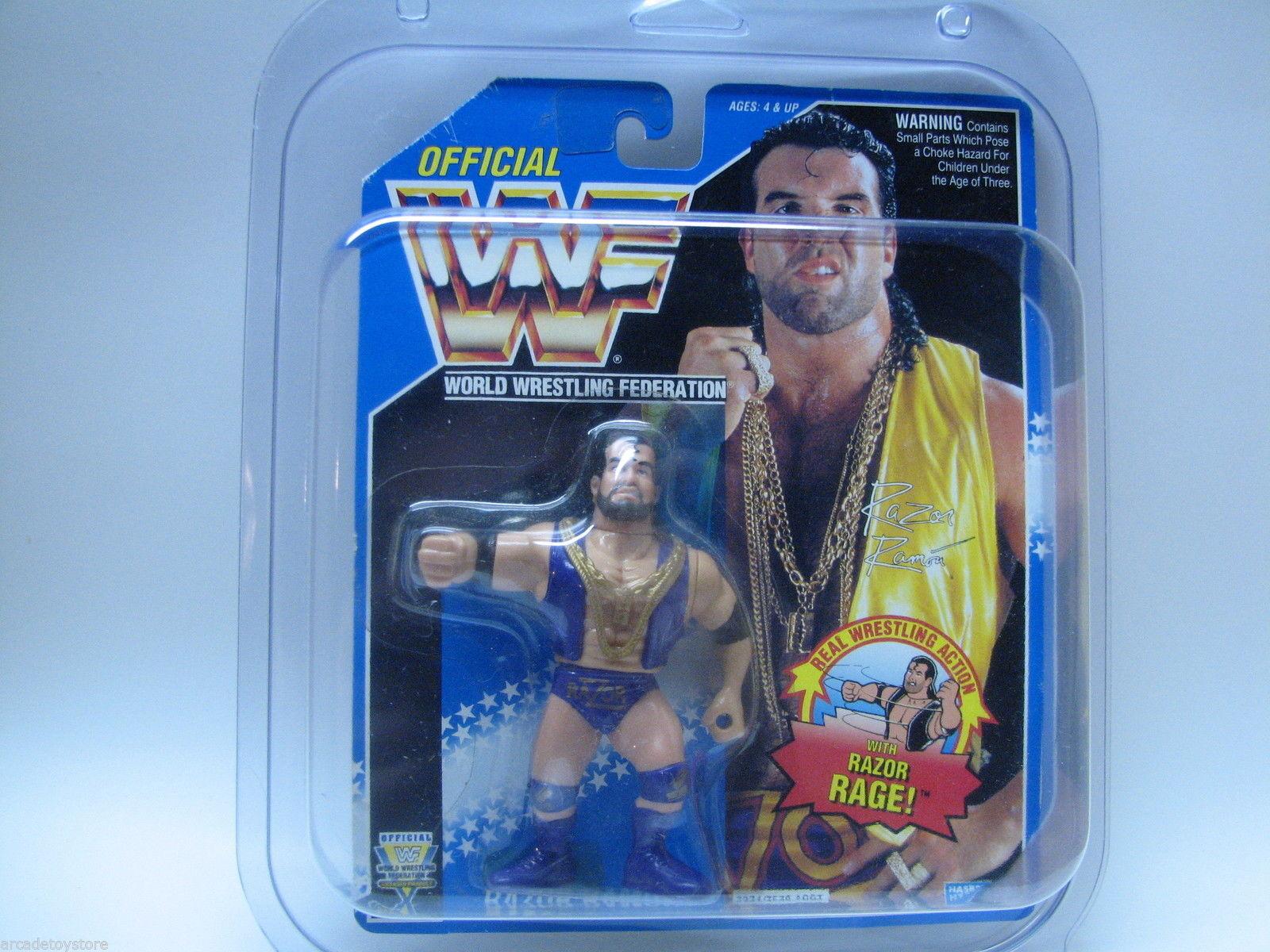 Lot of 5 Predective Display Case WWF Hasbro WWE Retro Mattel Wrestling Figures