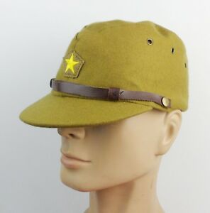 5c99b6f84 Details about WWII JAPANESE MILITARY ARMY OFFICER CAP HAT WOOL SIZE L
