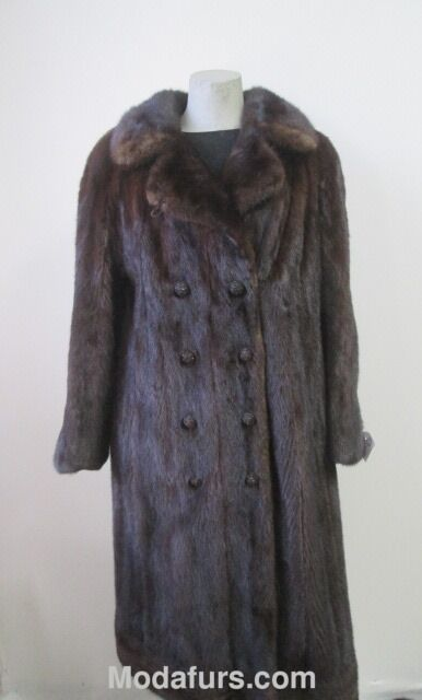 Women's Sz 10 12  M L Dark Ranch Mink Fur Coat CLEARANCE SALE Mint