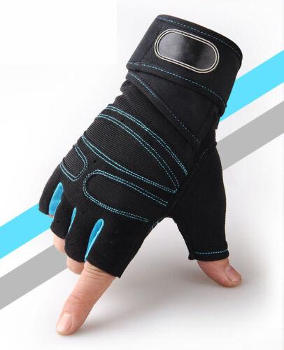 Unisex Gewichtheben Handschuhe Training Fitness Wrist Wrap Workout Übung Sport