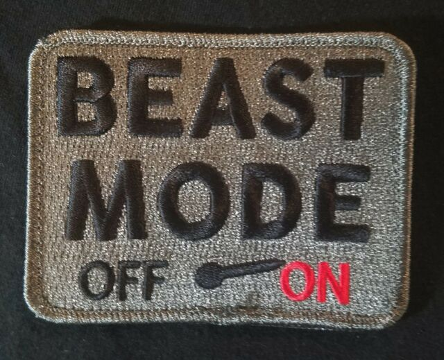 BEAST MODE ON ARMY USA MILITARY TACTICAL COMBAT ACU DARK VELCRO® BRAND PATCH