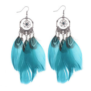 Bohemian-Ethnic-Style-Women-Feather-Earrings-Pattern-Hollow-Party-Gift-Jewelry