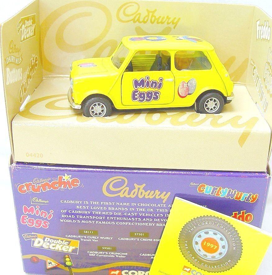 sorteos de estadio Corgi Juguetes Juguetes Juguetes 1 36 Morris Mini Cooper  Cadbury Mini Huevos  Coche Modelo MIB`98 Rara   para mayoristas