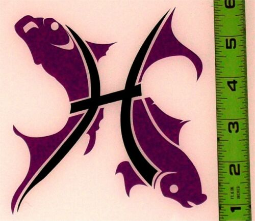 """Pisces Fish HQ 2 Color High Gloss 4.45/"""" x 5.0/"""" Vinyl Decal!"""