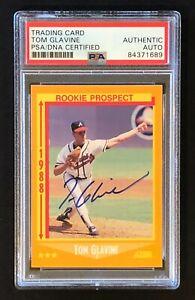 1988 Score TOM GLAVINE Signed/Auto/Autograph PSA/DNA Rookie RC #638 HOF Braves