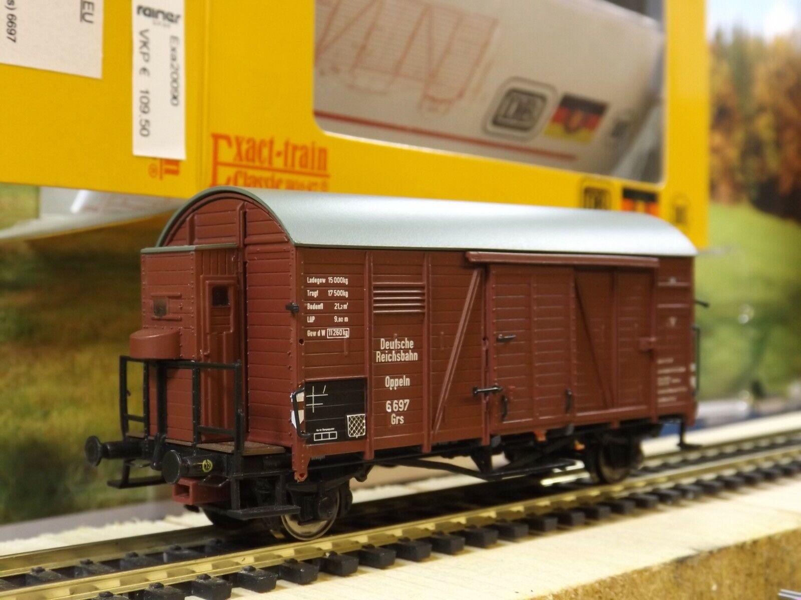 M184 Gedeckter Güterwagen mit Bh Oppeln Grs 6 697 DRG Exacttrain EX20090A