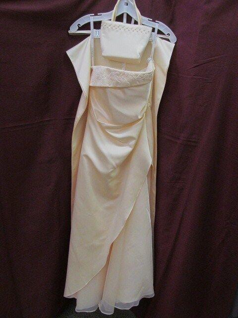 David's Bridal Size 2 Buttery Yellow Long Formal Bridesmaid Prom Dress K-2-2