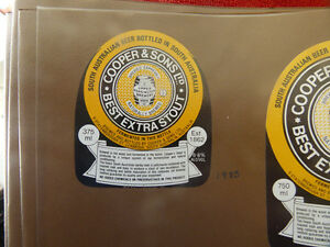 VINTAGE-AUS-BEER-LABEL-COOPERS-amp-SONS-BEST-EXTRA-STOUT-375-ML-3