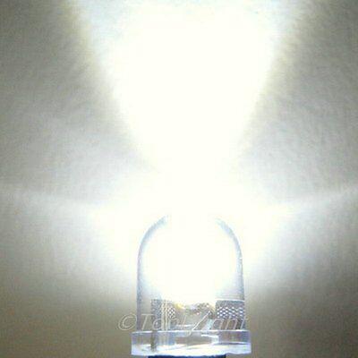 20 PCS 10mm 40° 1W Warm White LED 300mA 350,000mcd!NEW!